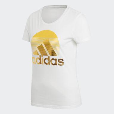 Frauen Sportswear W MH Foil Tee Weiß