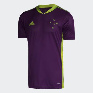 Camisa Goleiro Cruzeiro Roxo Homem Futebol