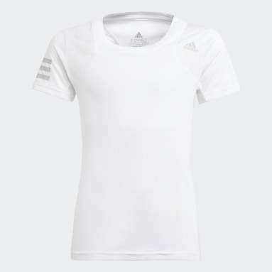 Genç Tenis Beyaz Club Tenis Tişörtü