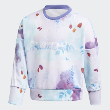 Children Training Purple Disney Frozen Crew Sweatshirt