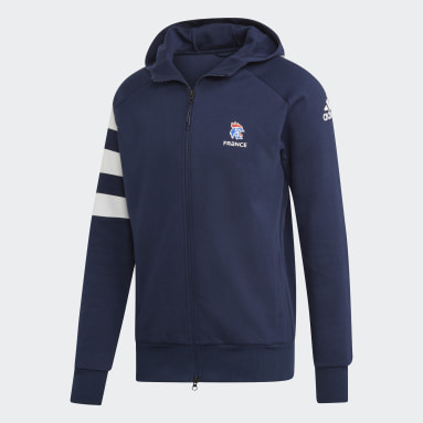 Veste à capuche Fédération Française de Handball Bleu Hommes Handball