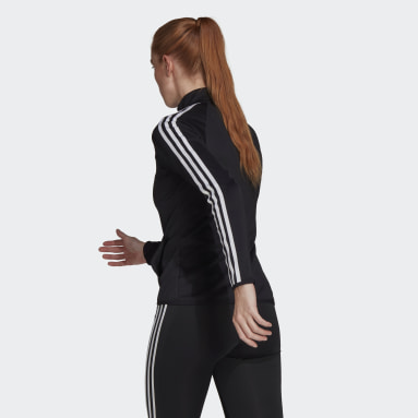 Women Training Black AEROREADY Designed 2 Move 3-Stripes Track Jacket