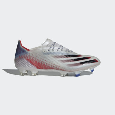 Football Silver X Ghosted.1 Firm Ground Boots