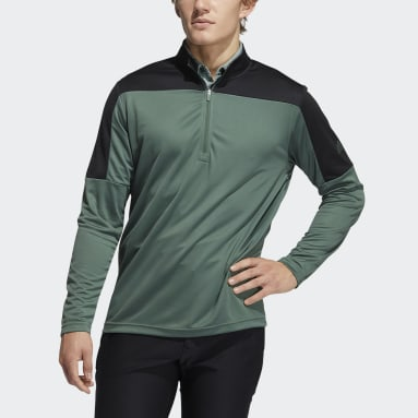 Men's Golf Green Lightweight UV Quarter-Zip Sweatshirt