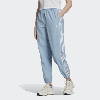 Women's Originals Blue Adicolor Classics Lock-Up Track Pants