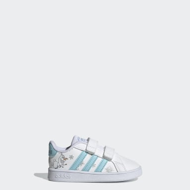 Infant & Toddler Sport Inspired White Grand Court Shoes