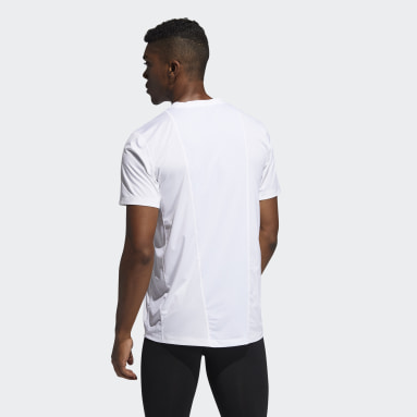 Men's Training White Techfit Fitted Tee