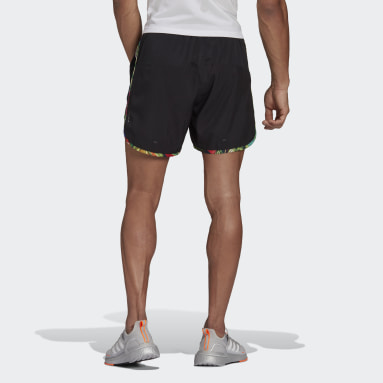 Men Running Black M20 Floral Shorts