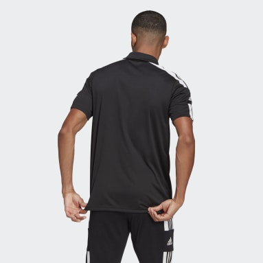Men Football Black Squadra 21 Polo Shirt