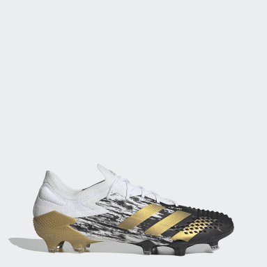 Football White Predator Mutator 20.1 Low Firm Ground Boots