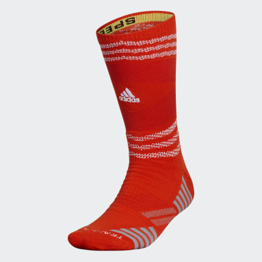 Football Orange Speed Mesh Team Crew Socks