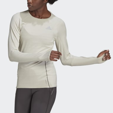 Maglia Runner Long Sleeve Beige Donna Running