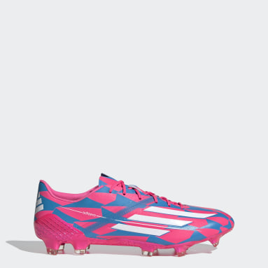 Chaussure F50 Ghosted Adizero HybridTouch Firm Ground Bleu Hommes Football