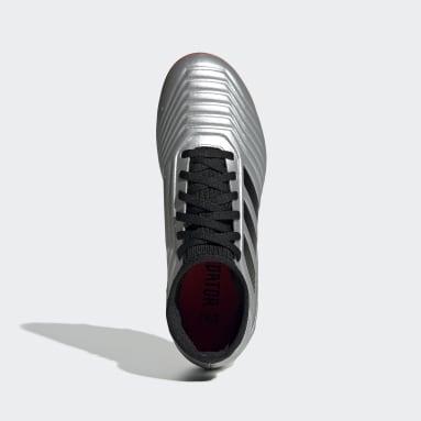 Kids Football Silver Predator 19.3 Firm Ground Boots