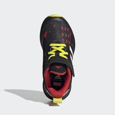 Children Running Black Marvel Super Hero Adventures FortaRun Shoes