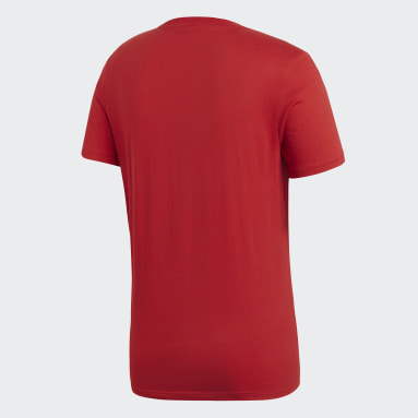 T-shirt Core 18 Rouge Hommes Fitness Et Training