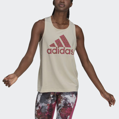 Women's Essentials Beige adidas x Zoe Saldana AEROREADY Tank Top