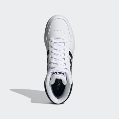 Sapatos Hoops 2.0 Mid Branco Walking