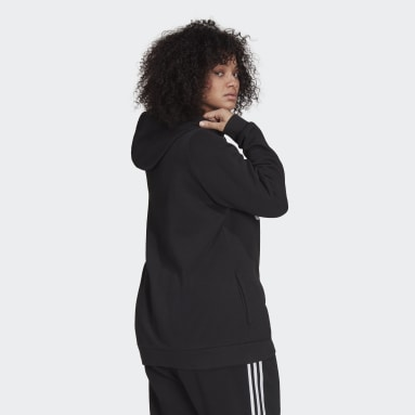 Sweat-shirt à capuche Essentials Logo Fleece (Grandes tailles) Noir Femmes Sportswear