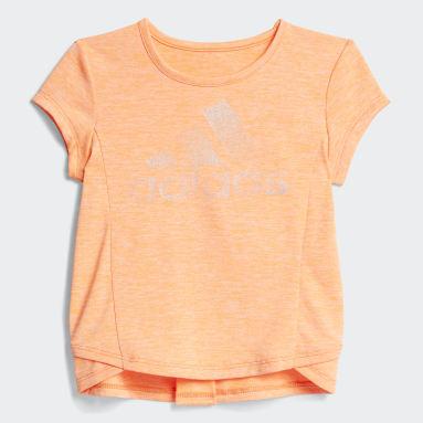 Infant & Toddler Training Orange Mélange Capri Tights Set