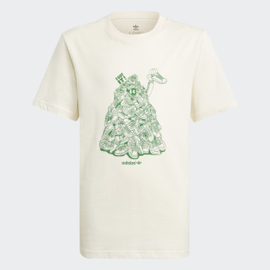 Děti Originals bílá Tričko Graphic No-Dye Organic Cotton
