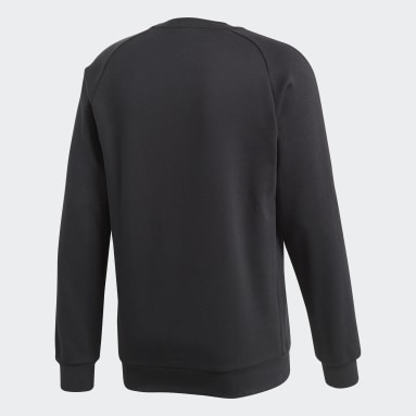 Men Gym & Training Black Core 18 Sweatshirt