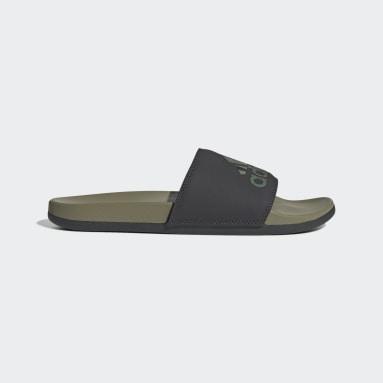 Men Yoga Green Adilette Comfort Slides