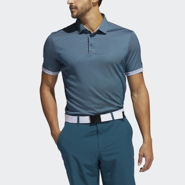 Männer Golf Equipment Two-Tone Mesh Poloshirt Weiß