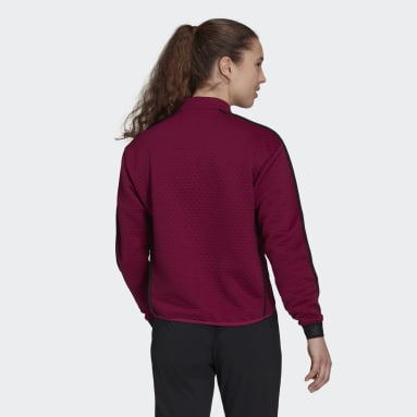Women's TERREX Burgundy Terrex Hike 1/2 Zip Fleece