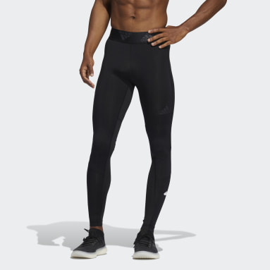 Men Training Black Techfit Long Tights