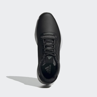 Golf Zwart S2G Spikeless Leren Golfschoenen