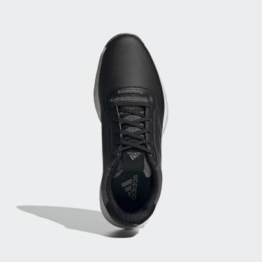 Sapatos de Golfe em Pele sem Bicos S2G Preto Golfe