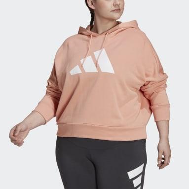 Women Sportswear Pink adidas Sportswear Future Icons Hoodie (Plus Size)