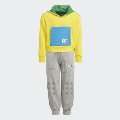 เด็กผู้หญิง เทรนนิง สีเหลือง ชุดเสื้อและกางเกง adidas x Classic LEGO®