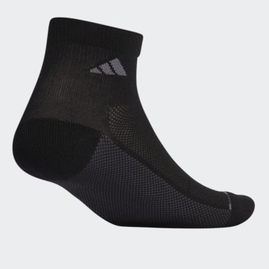 Men's Cycling Black Superlite Stripe 2 Quarter Socks 3 Pairs