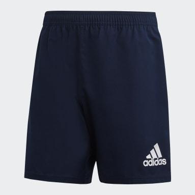 Heren Rugby Blauw 3-Stripes Short
