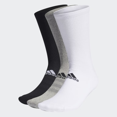 Men Golf Grey Crew Socks 3 Pairs