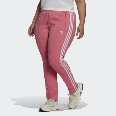 Ženy Originals růžová Sportovní kalhoty Primeblue SST (Plus Size)