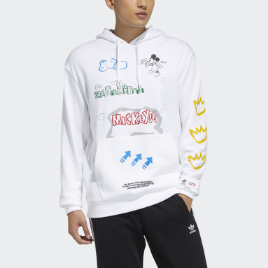 Men Originals White Graphic Hoodie