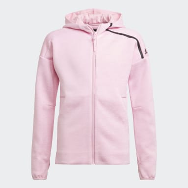 Youth 8-16 Years Gym & Training Pink adidas Z.N.E. Sportswear Hoodie Feat. Fast-Release Zipper