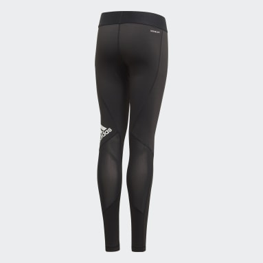 Girls Yoga Black Techfit Leggings