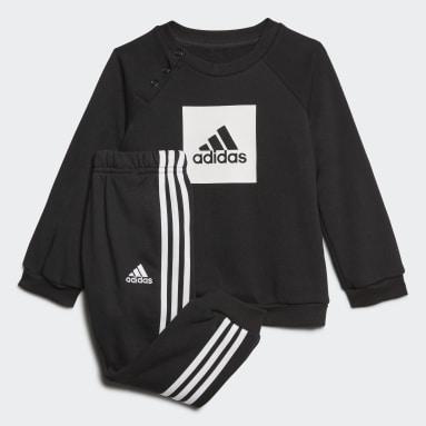 Kids Gym & Training Black 3-Stripes Logo Jogger Set