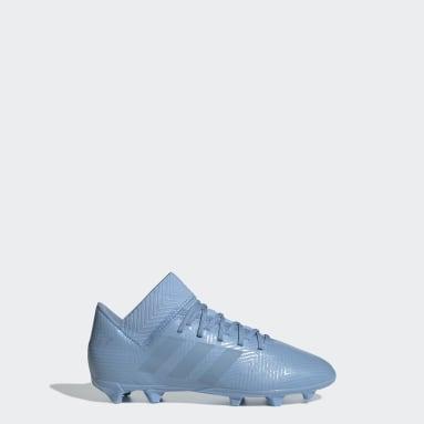 Calzado de Fútbol Nemeziz Messi 18.3 Terreno Firme Azul Niño Fútbol