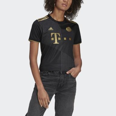 Women's Soccer Black FC Bayern 21/22 Away Jersey