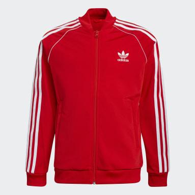 Deti Originals červená Tepláková bunda Adicolor SST