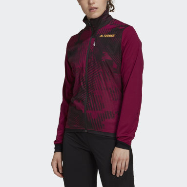 Women TERREX Burgundy Terrex Agravic XC Polartec Alpha Athlete Jacket