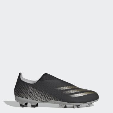 Zapatos de fútbol Sin Cordones X Ghosted.3 Terreno Firme Negro Hombre Fútbol