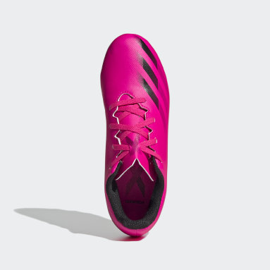 Boys Football Pink X Ghosted.4 Flexible Ground Boots