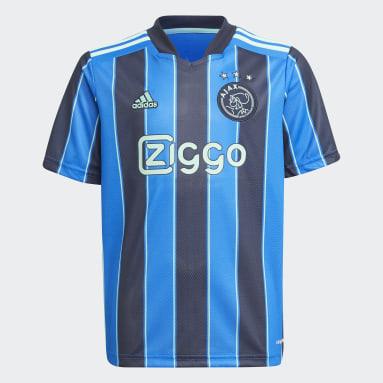 Kinderen Voetbal blauw Ajax Amsterdam 21/22 Uitshirt