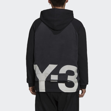 Y-3 CH3 Raw Terry Graphic Logo Hoodie Nero Uomo Y-3